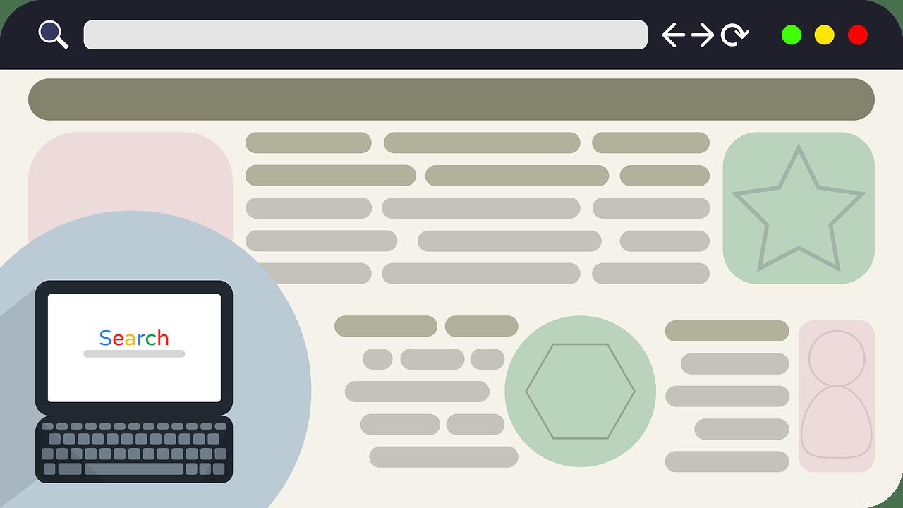 Как оформить разделы сайта